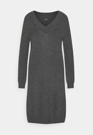 CROSSOVER VNECK - Jumper dress - charcoal grey