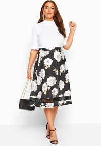 Yours Clothing - LONDON - A-line skirt - black - 1