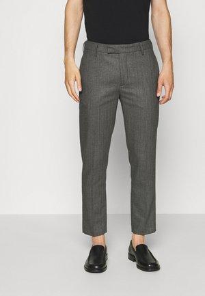 BEN SUIT - Kalhoty - black grey melange