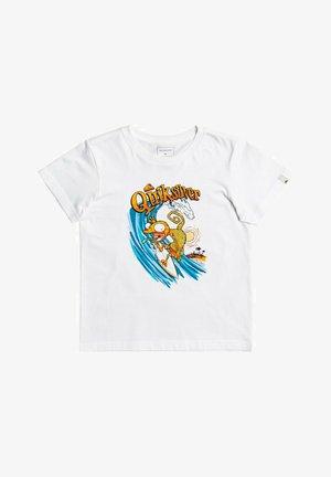 BREAK THE FALL - Print T-shirt - white