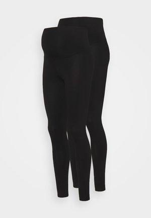 OVERBUMP LEGGING 2 PACK - Leggings - black