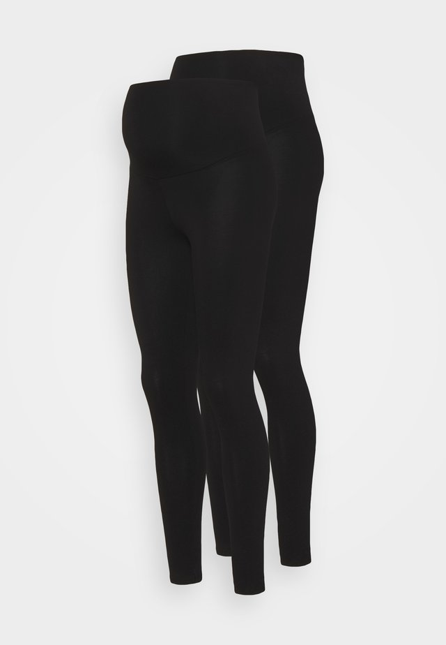 OVERBUMP LEGGING 2 PACK - Leggings - black