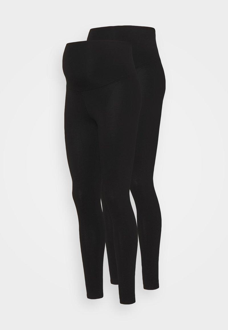 Dorothy Perkins Maternity - OVERBUMP LEGGING 2 PACK - Legging - black