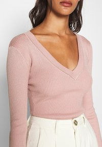 Missguided - NECK BODY - Sweter - pale pink - 5