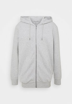 JJEBASIC ZIP HOOD - Bluza rozpinana - light grey melange