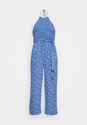 SMOCKED BODICE - Jumpsuit - blue