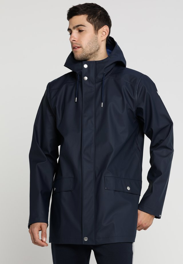 MOSS RAIN COAT - Waterproof jacket - navy