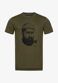 super.natural - Print T-shirt - olivgrün - 1