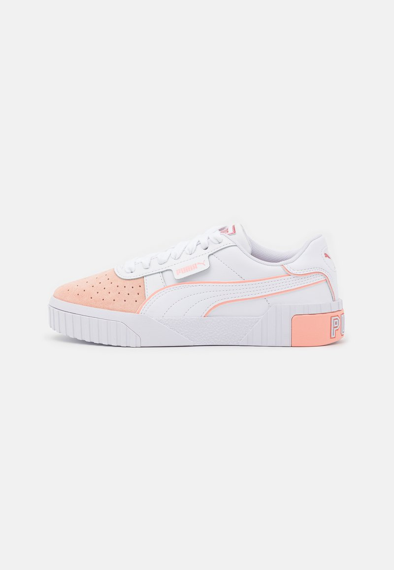 Puma - CALI LAYER REMIX  - Matalavartiset tennarit - white/apricot blush/sun kissed coral