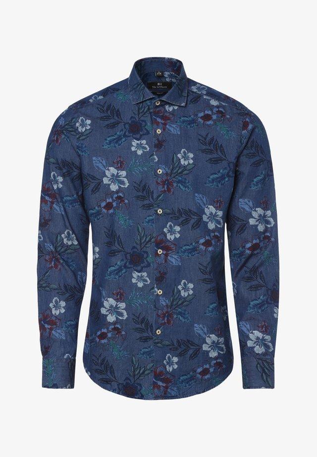 Shirt - indigo mehrfarbig