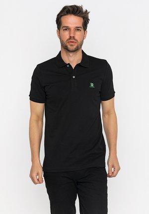 Poloshirt - black/neon green