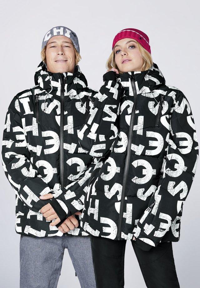 MIT ALLOVERPRINT - Snowboard jacket - black/white aop