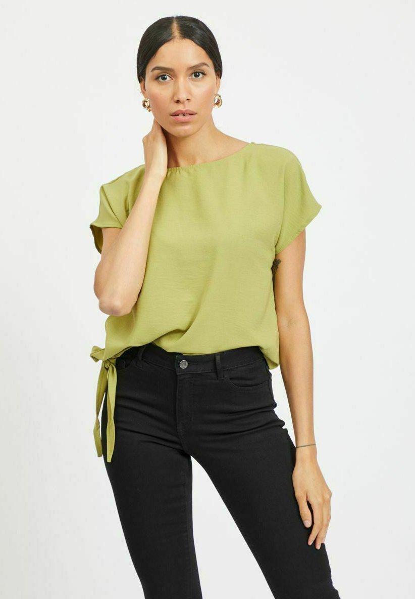 Damen MIT KURZEN ÄRMELN SCHNÜRBAND - T-Shirt print