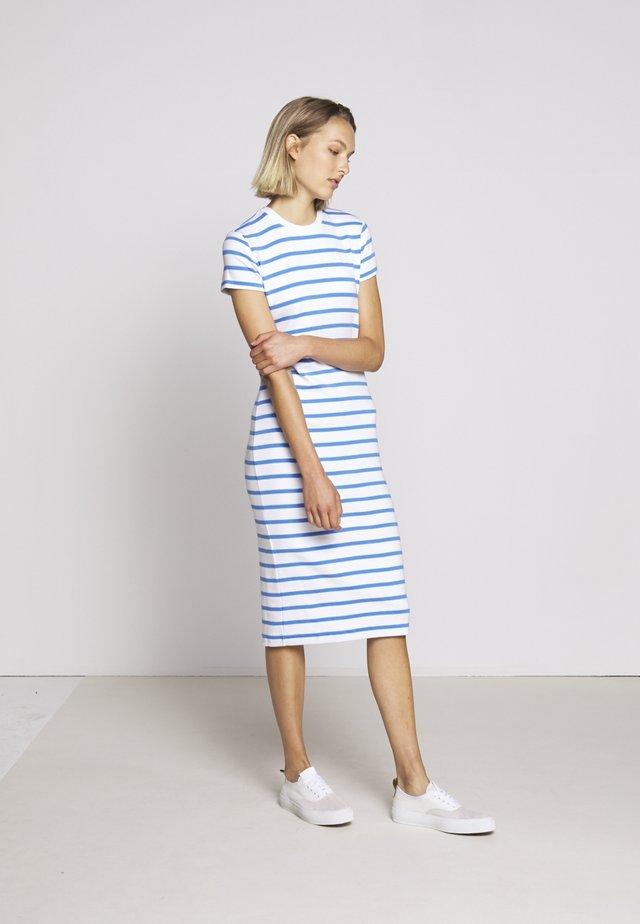 PIMA - Shift dress - white/rivera blu