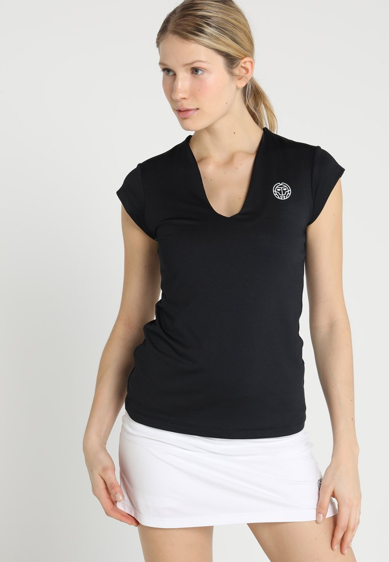 BIDI BADU - BELLA 2.0 TECH NECK TEE - Basic T-shirt - black