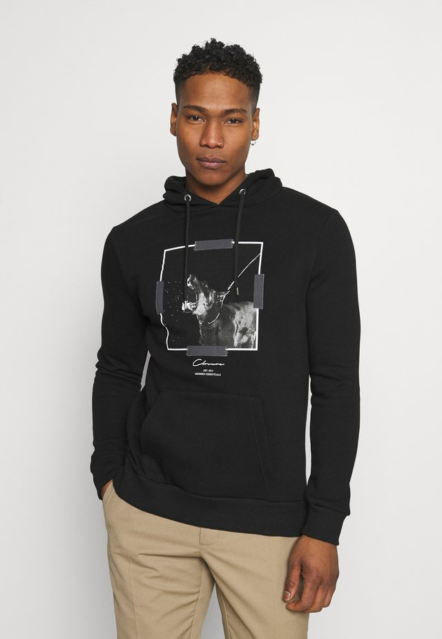 DOBERMAN HOODY - Sweatshirt - black