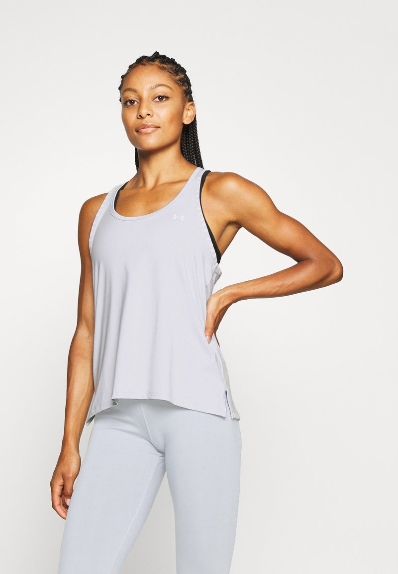 Under Armour - KNOCKOUT TANK - T-shirt de sport - halo gray