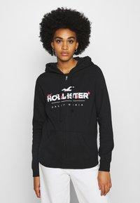 Hollister Co. - SECONDARY TECH CORE - Mikina na zip - black - 0