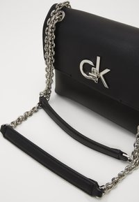 Calvin Klein - FLAP XBODY - Across body bag - black - 2