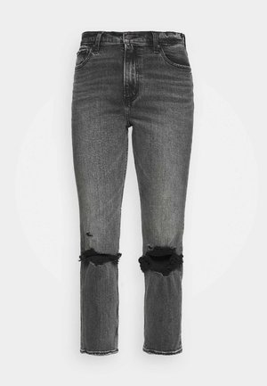 KNEE SLIT  - Džíny Straight Fit - grey wash