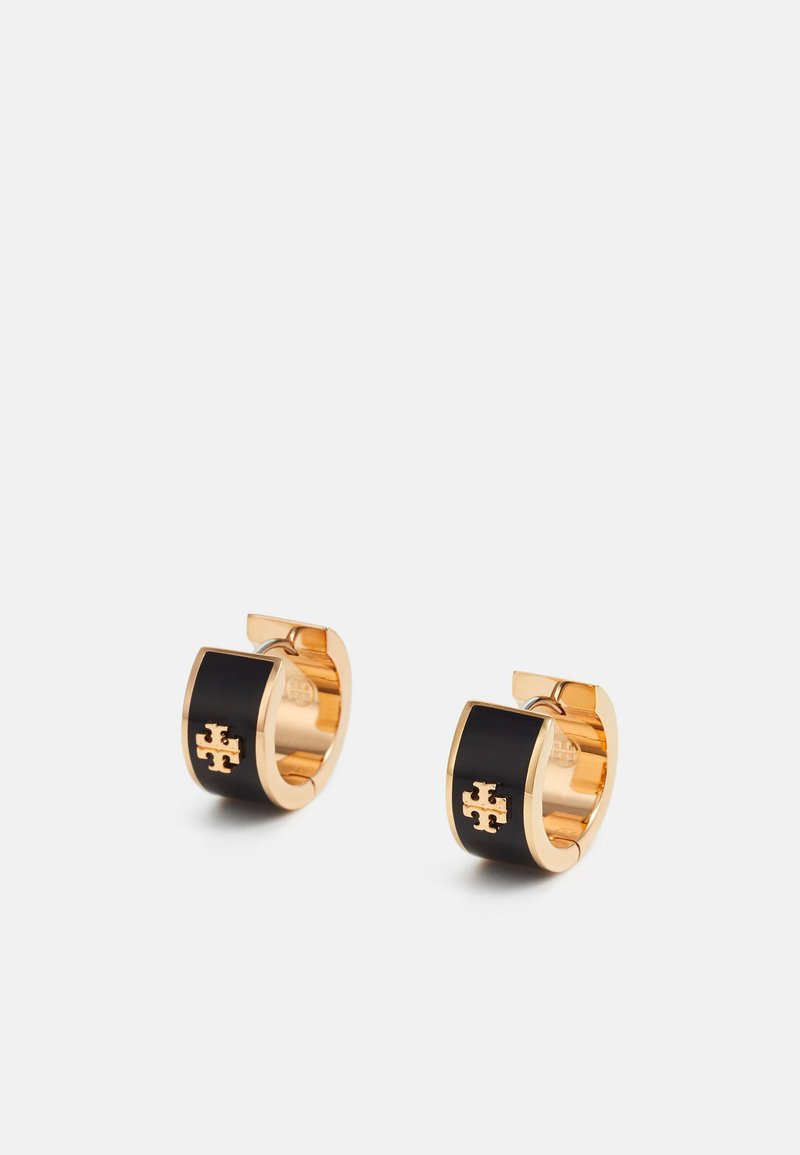Tory Burch - KIRA HUGGIE HOOP EARING  - Earrings - black