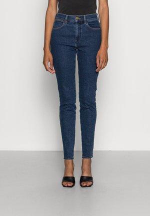 HIGH RISE SKINNY - Jeans Skinny Fit - static dark