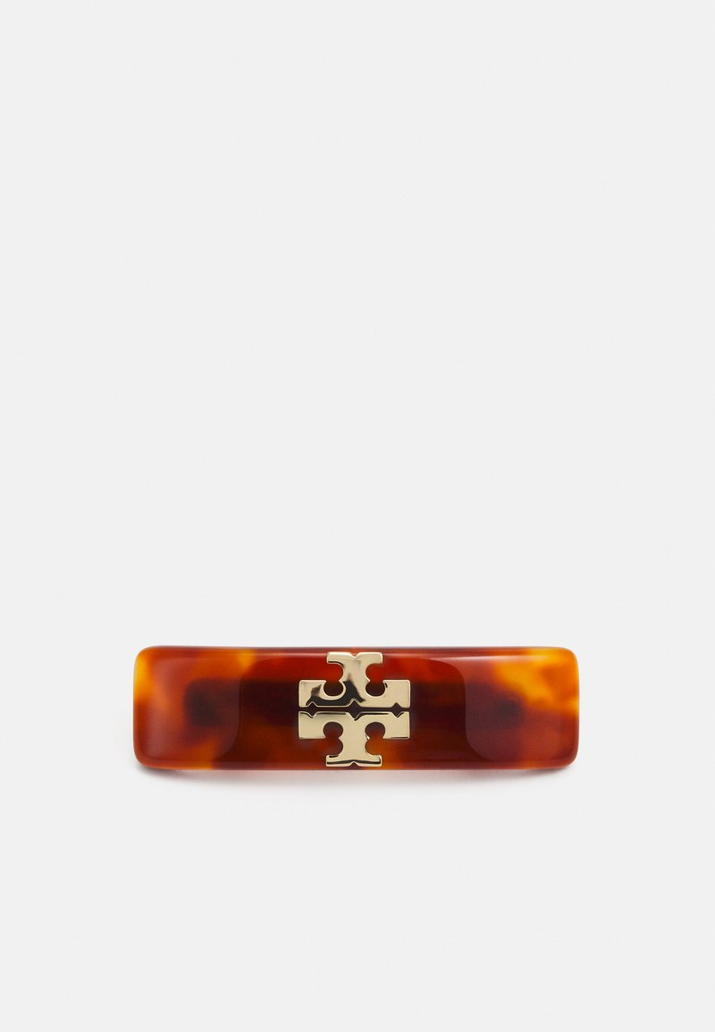 Tory Burch - KIRA SMALL BARRETTE - Hair styling accessory - gold-coloured/tortoise