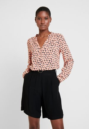 Blouse - brown/pink