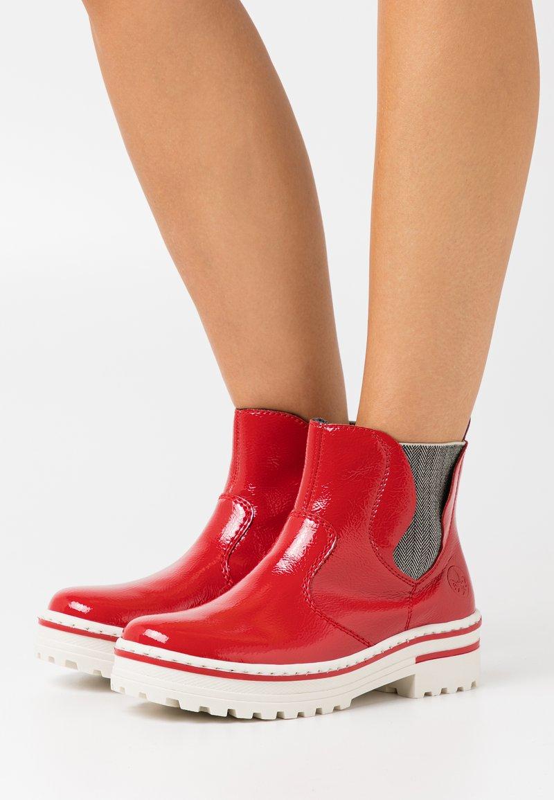 Rieker - Platform ankle boots - flamme
