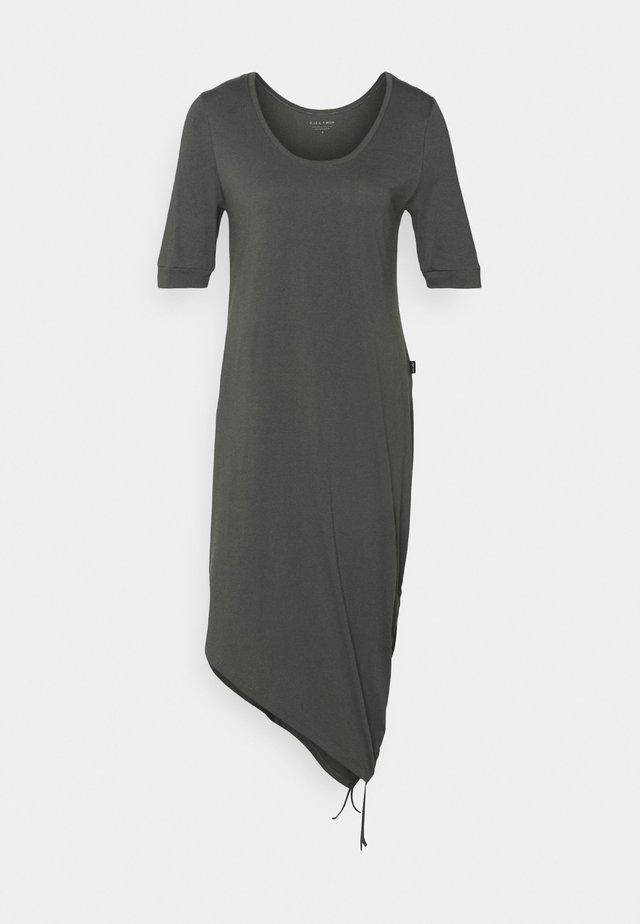 HALF SLEEVE DRAWSTRING DRESS - Trikoomekko - asphalt