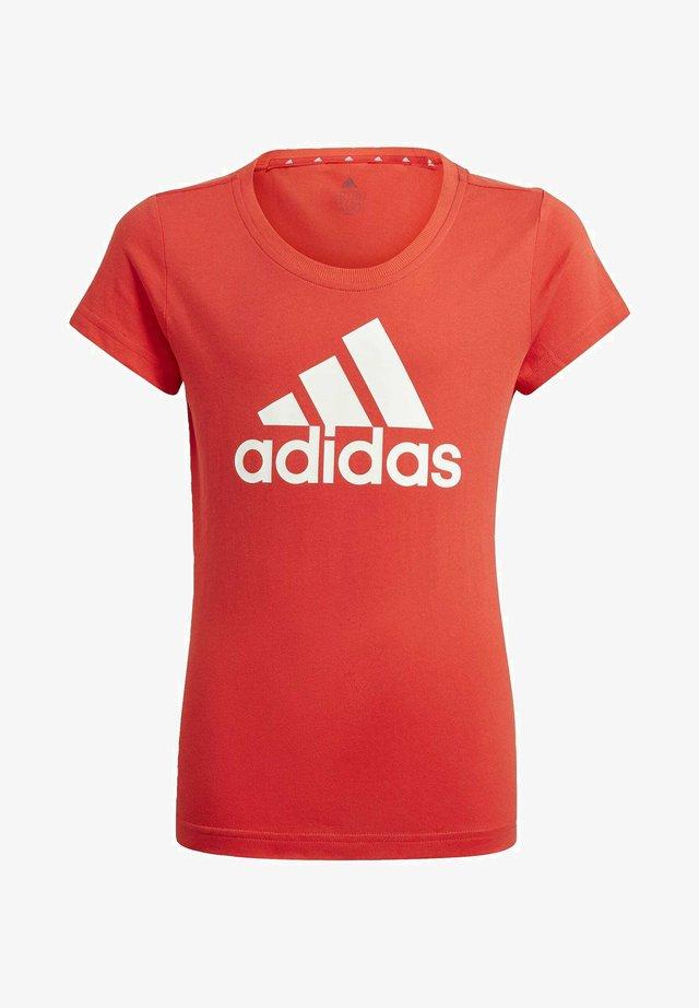 ADIDAS ESSENTIALS T-SHIRT - Print T-shirt - red