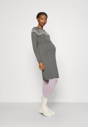 DRESS - Neulemekko - medium grey