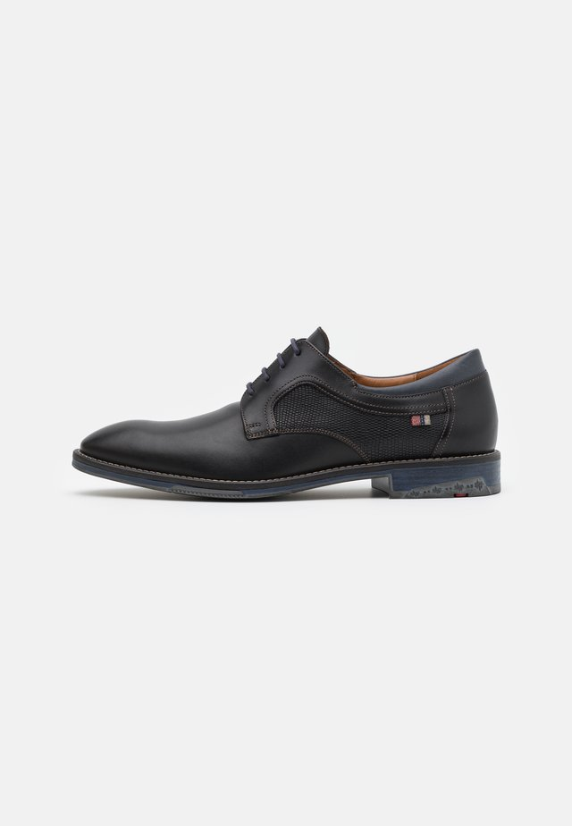 DARIAN - Derbies - black/pacific