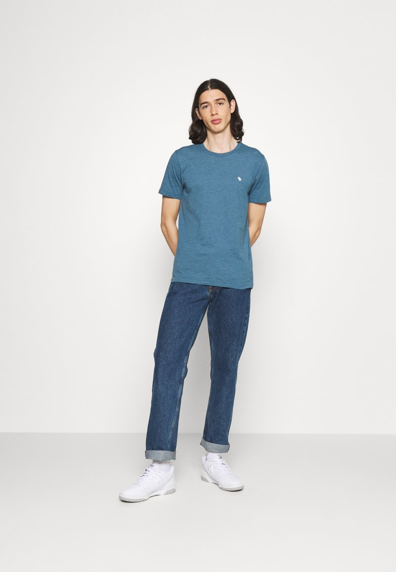 Abercrombie & Fitch - NEUTRAL CREW MULTI 5 PACK - T-shirt basic - white/yellow/green/blue/black