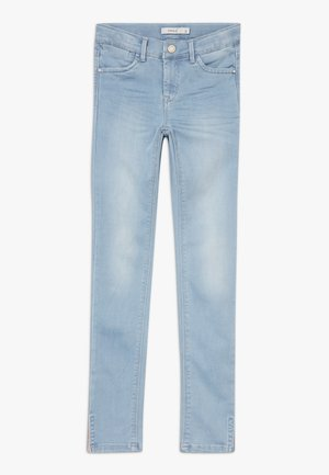 NKFPOLLY 1319 ANCLE PANT - Skinny-Farkut - light blue denim
