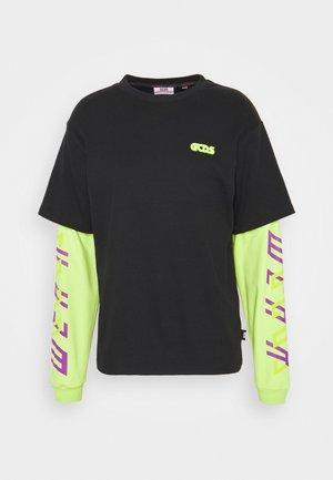 STRICT DOUBLE TEE - Top sdlouhým rukávem - black
