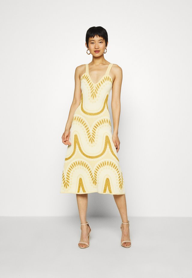 WINDSWEPT SIGHS MIDI DRESS - Neulemekko - meringue