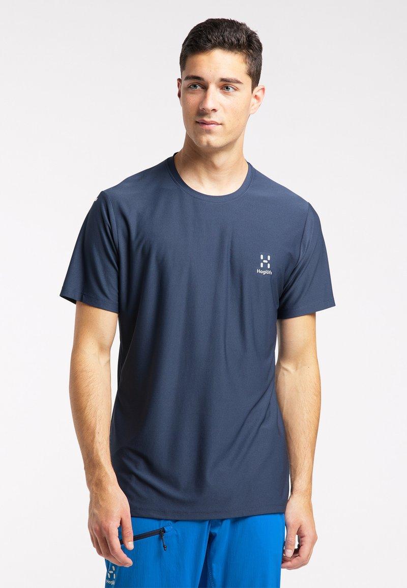 Haglöfs - Print T-shirt - tarn blue