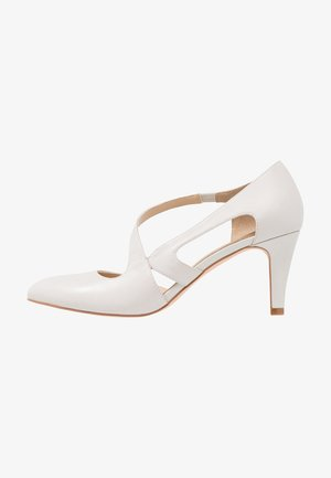 LEATHER CLASSIC HEELS - Tacones - white