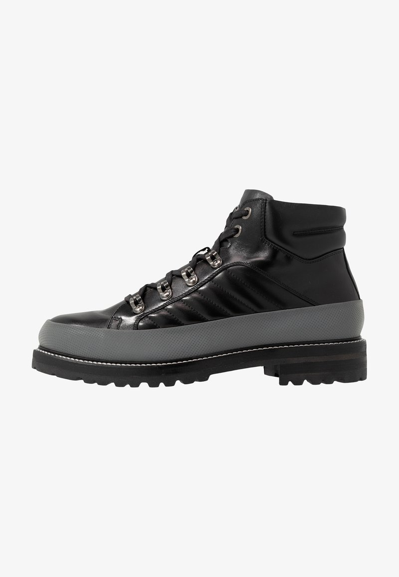 Bogner - NEW LECH - Lace-up ankle boots - black/silver