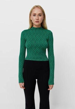Long sleeved top - mottled green