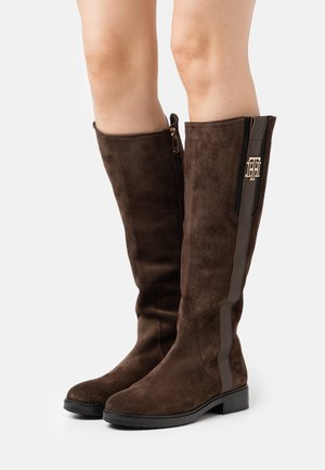 INTERLOCK LONG BOOT - Boots - cocoa