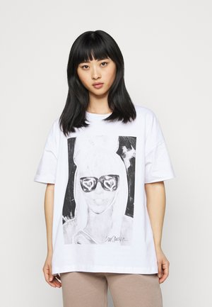 NMIDA - Print T-shirt - bright white