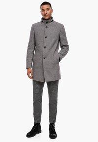 s.Oliver BLACK LABEL - STEHKRAGEN - Short coat - grey melange - 1