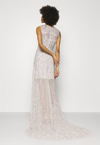 Maya Deluxe - ALL OVER EMBELLISHED MAXI DRESS WITH TRAIN - Iltapuku - soft grey - 2