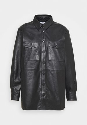 ONLVIYA  - Leather jacket - black