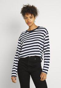 Monki - MAJA - Långärmad tröja - light blue/white/black dark - 3