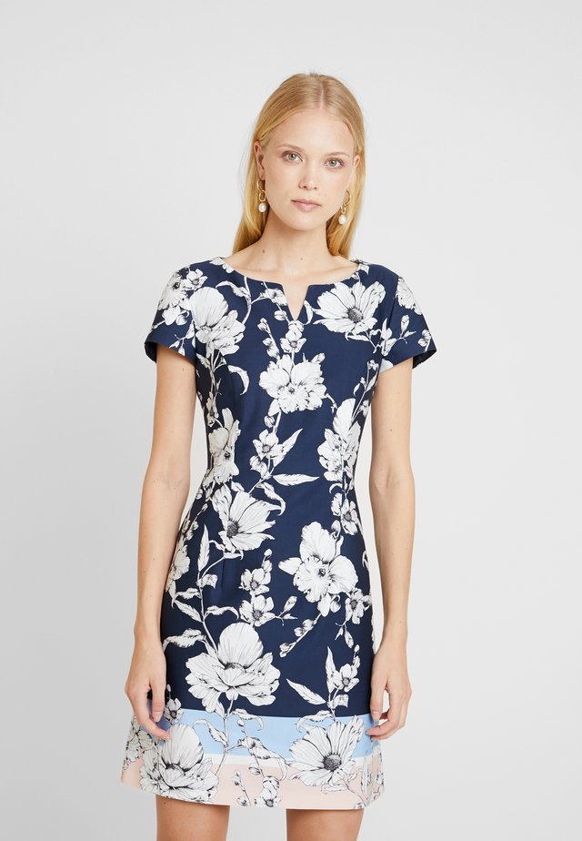 Korte jurk - blue/rose