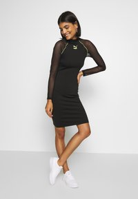 Puma - BODYCON DRESS - Vestido de tubo - black - 0