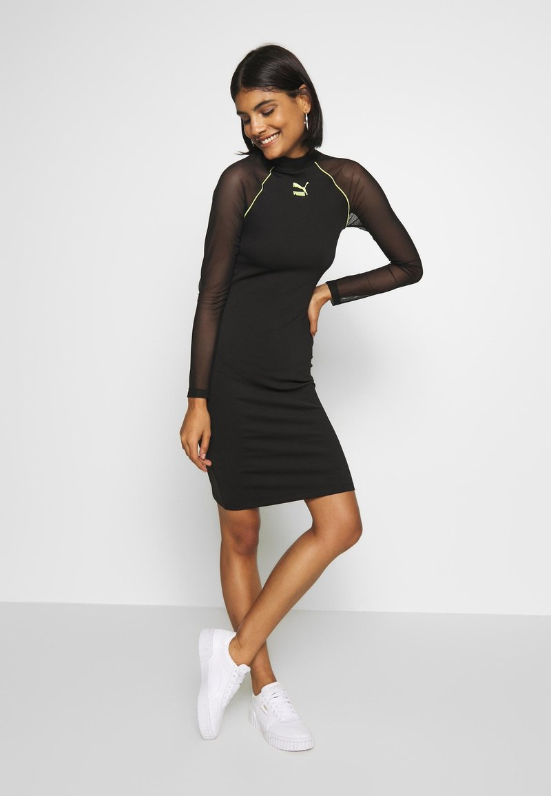 Puma - BODYCON DRESS - Vestido de tubo - black